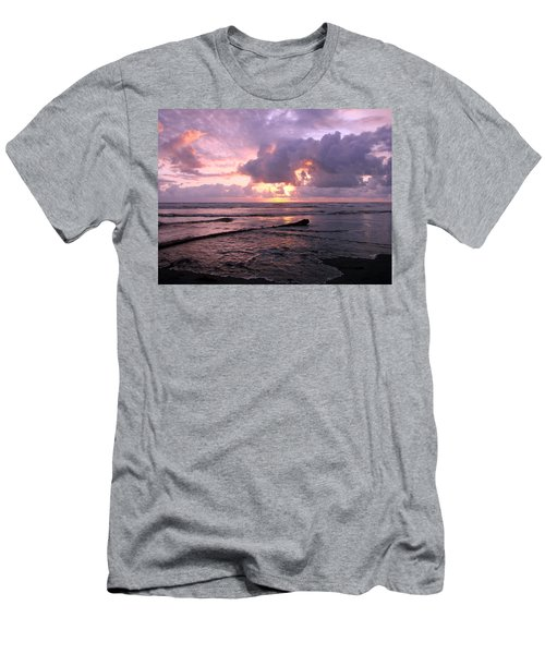 Men's T-Shirt (Slim Fit) featuring the photograph Purple Pink Sunset by Athena Mckinzie