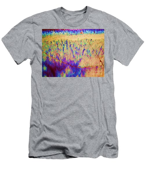 Purple Tan Stone Abstract Men's T-Shirt (Slim Fit) by Eric  Schiabor