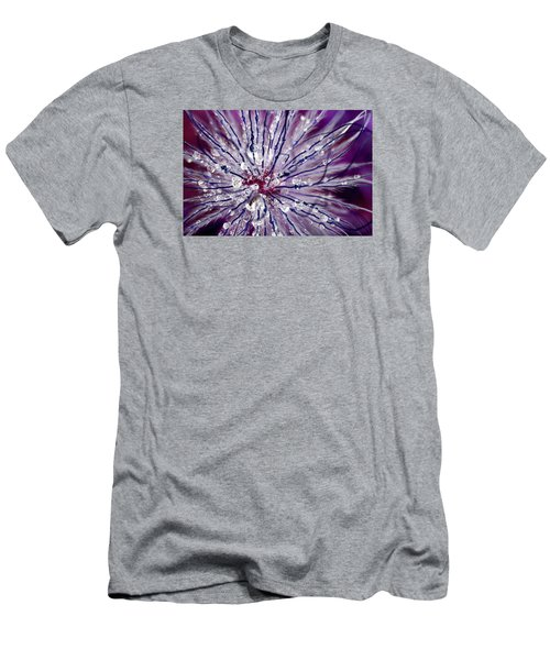 Purple Tentacles In Abstract Flower Shot Men's T-Shirt (Athletic Fit)