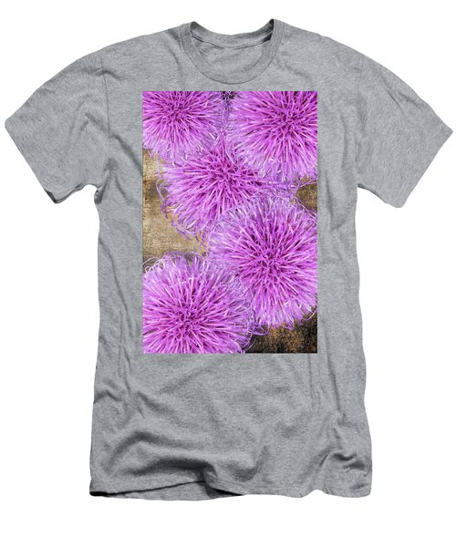 Purple Thistle - 2 Men's T-Shirt (Athletic Fit)