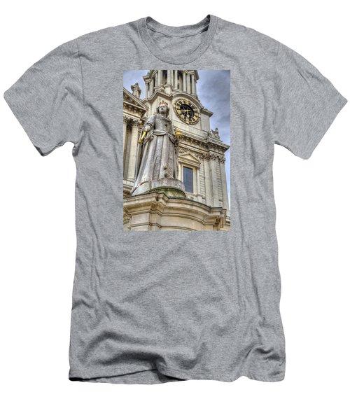 Queen Anne Statue Men's T-Shirt (Slim Fit) by Tim Stanley