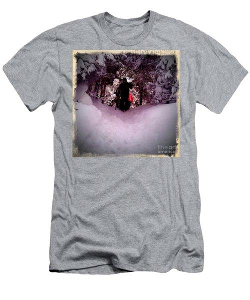 Men's T-Shirt (Slim Fit) featuring the photograph Quest For Powder by James Aiken