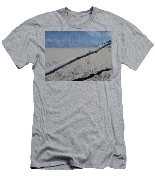 Men's T-Shirt (Slim Fit) featuring the photograph Quiet Beach by Photographic Arts And Design Studio