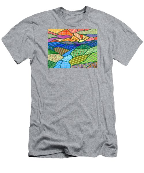 Quilted Appalachian Sunset Men's T-Shirt (Athletic Fit)