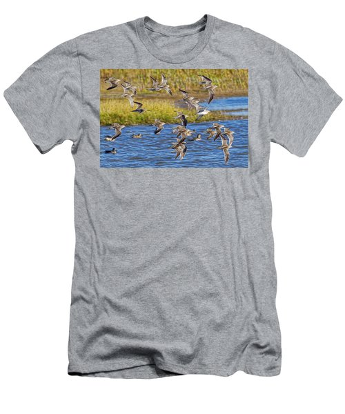 Men's T-Shirt (Slim Fit) featuring the photograph Racing Stripes by Gary Holmes