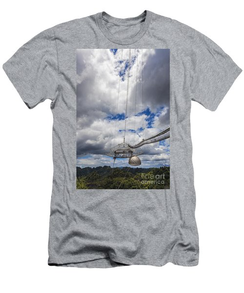 Radio Telescope At Arecibo Observatory In Puerto Rico Men's T-Shirt (Athletic Fit)