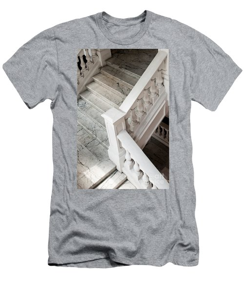 Raffle's Hotel Marble Staircase Men's T-Shirt (Athletic Fit)
