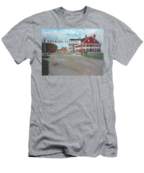 Railroad Crossing Men's T-Shirt (Athletic Fit)