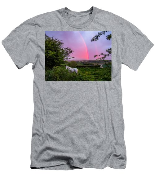 Rainbow At Sunset In County Clare Men's T-Shirt (Athletic Fit)