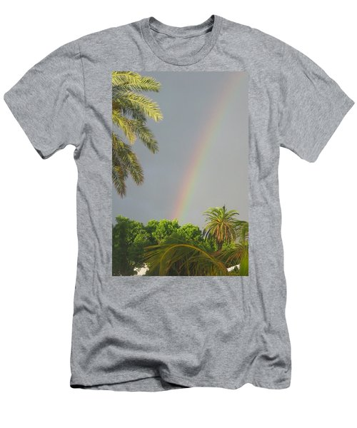 Men's T-Shirt (Slim Fit) featuring the photograph Rainbow Bermuda by Photographic Arts And Design Studio