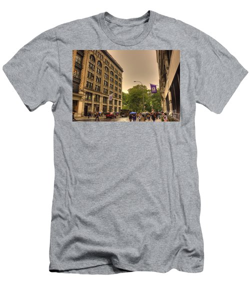 Raining At Nyu Men's T-Shirt (Athletic Fit)