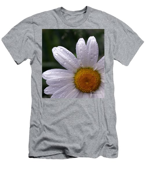 Rainy Day Daisy Men's T-Shirt (Slim Fit) by Kevin Fortier