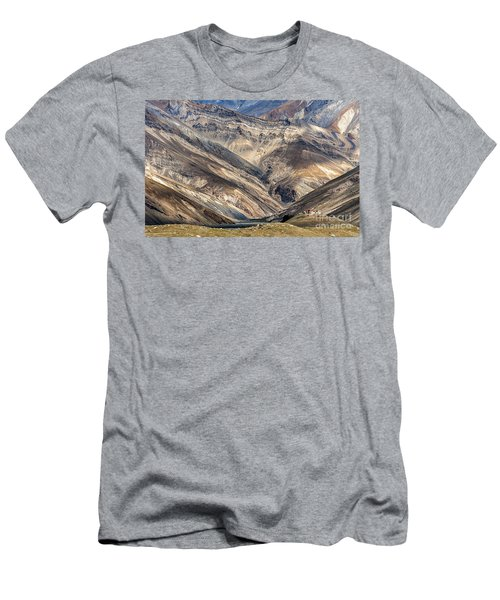 Men's T-Shirt (Athletic Fit) featuring the photograph Rangdum Monastery, Rangdum, 2006 by Hitendra SINKAR