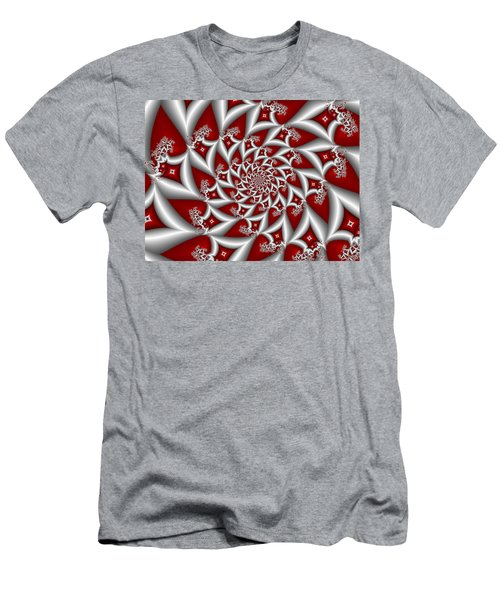 Red An Gray Men's T-Shirt (Athletic Fit)