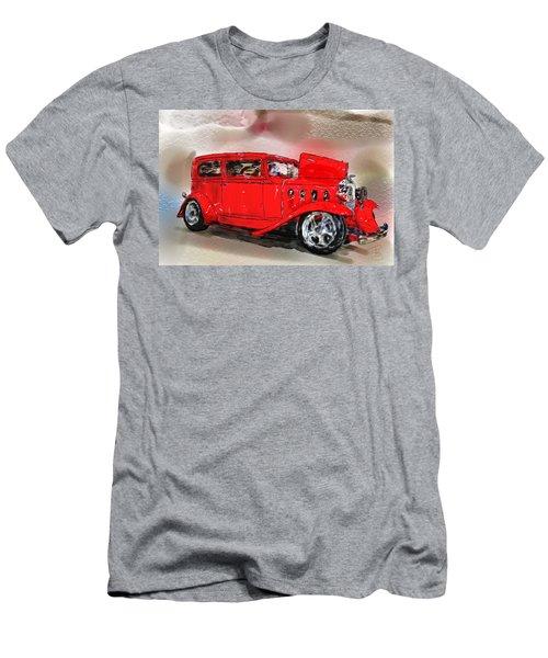 Red Car Men's T-Shirt (Slim Fit) by Debra Baldwin