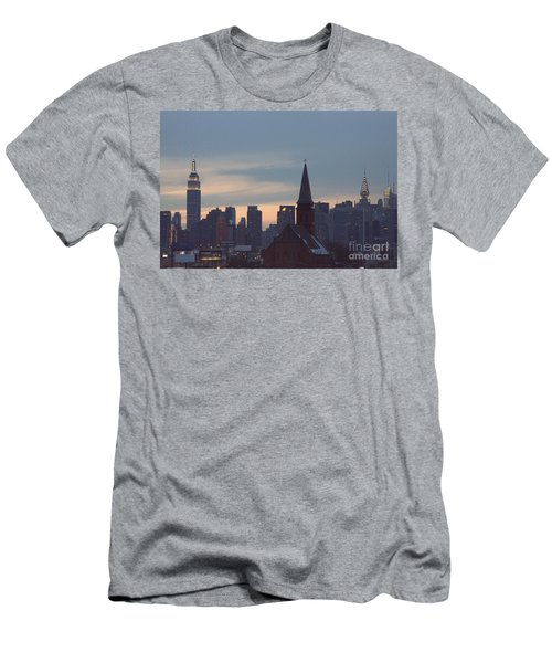 Men's T-Shirt (Slim Fit) featuring the photograph Red Church by Steven Macanka