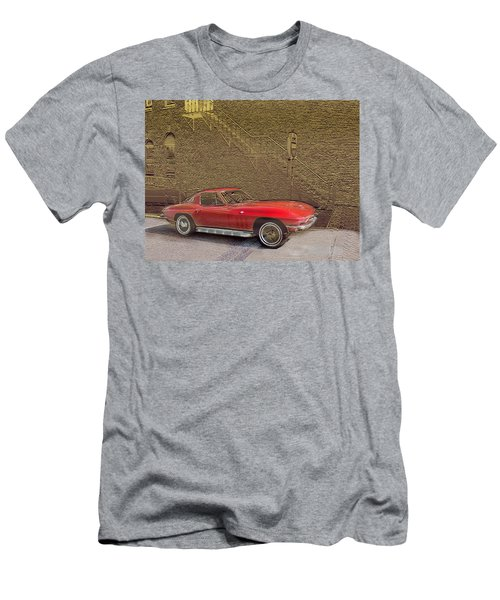 Red Corvette Men's T-Shirt (Slim Fit)