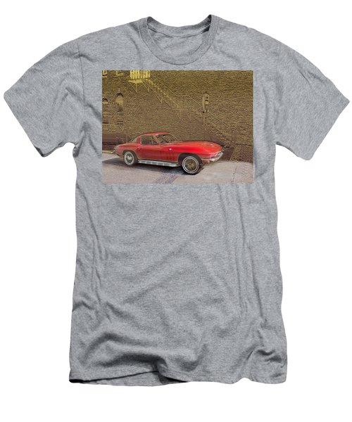 Red Corvette Men's T-Shirt (Athletic Fit)