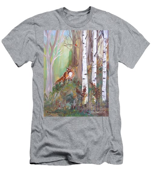 Red Fox And Cardinals Men's T-Shirt (Athletic Fit)