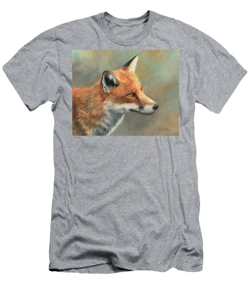 Red Fox Portrait Men's T-Shirt (Slim Fit)