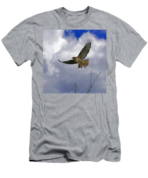 Red Tail Hawk Digital Freehand Painting 1 Men's T-Shirt (Athletic Fit)