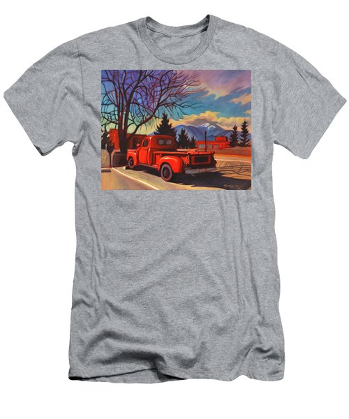 Red Truck Men's T-Shirt (Athletic Fit)