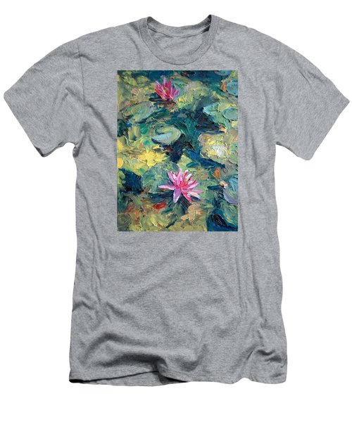 Red Waterlily  Men's T-Shirt (Athletic Fit)