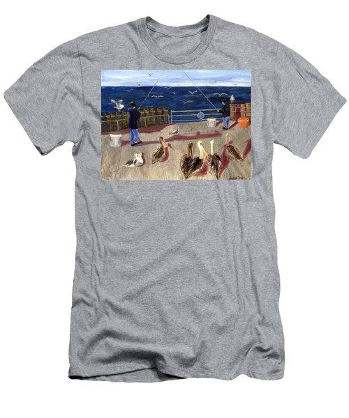 Redondo Beach Pelicans Men's T-Shirt (Slim Fit) by Jamie Frier