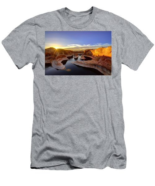 Men's T-Shirt (Athletic Fit) featuring the photograph Reflection Canyon Sunrise by Dustin  LeFevre