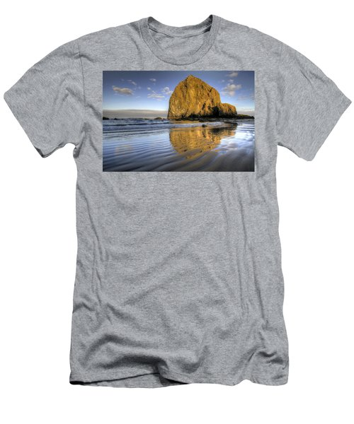 Reflection Of Haystack Rock At Cannon Beach 2 Men's T-Shirt (Athletic Fit)