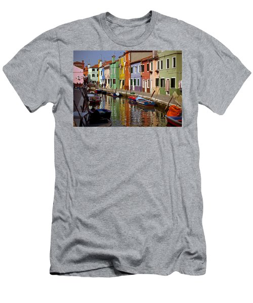 Reflections Of Burano Men's T-Shirt (Athletic Fit)