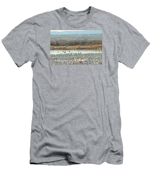 Refuge View 1 Men's T-Shirt (Slim Fit) by James Gay