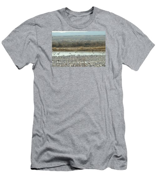 Refuge View  Men's T-Shirt (Slim Fit) by James Gay