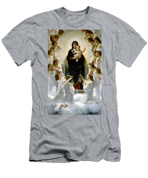 Regina Angelorum Men's T-Shirt (Slim Fit) by William Bouguereau