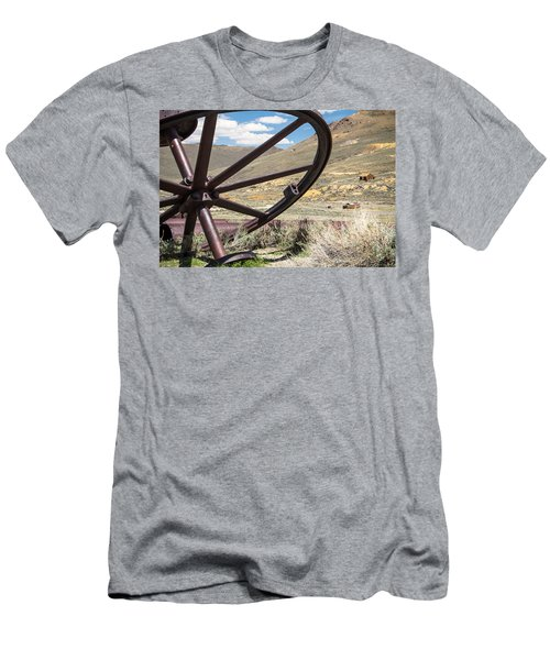 Men's T-Shirt (Slim Fit) featuring the photograph Relics Of Bodie by Steven Bateson