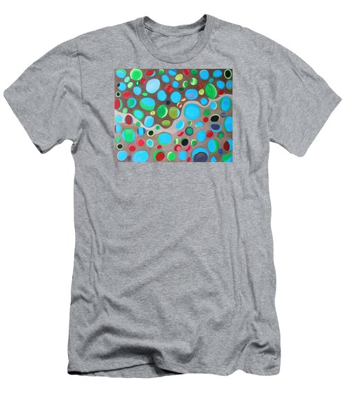 Men's T-Shirt (Slim Fit) featuring the painting Riches Of People On Earth  by Lorna Maza