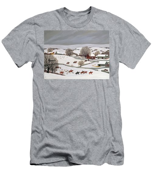 Riding In The Snow Men's T-Shirt (Athletic Fit)