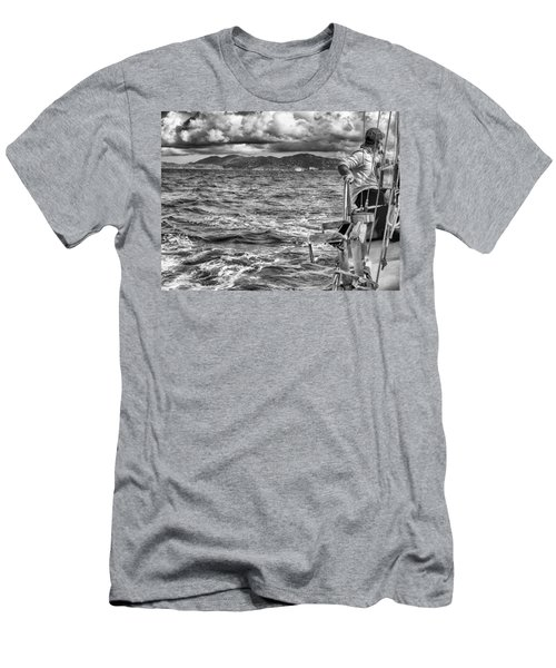 Men's T-Shirt (Athletic Fit) featuring the photograph Riding The Crest Of The Wave by Howard Salmon