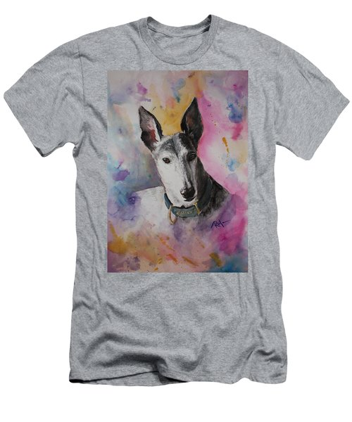 Men's T-Shirt (Slim Fit) featuring the painting Riding The Rainbow by Rachel Hames