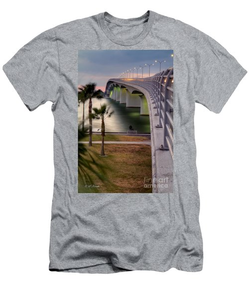 Ringling Causeway Bridge Overlook Men's T-Shirt (Athletic Fit)