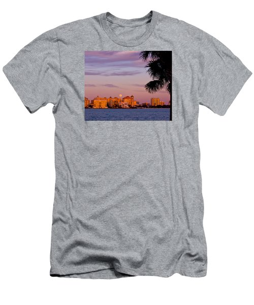 Rising Full Moon Sunset Sarasota Cityscape Men's T-Shirt (Athletic Fit)