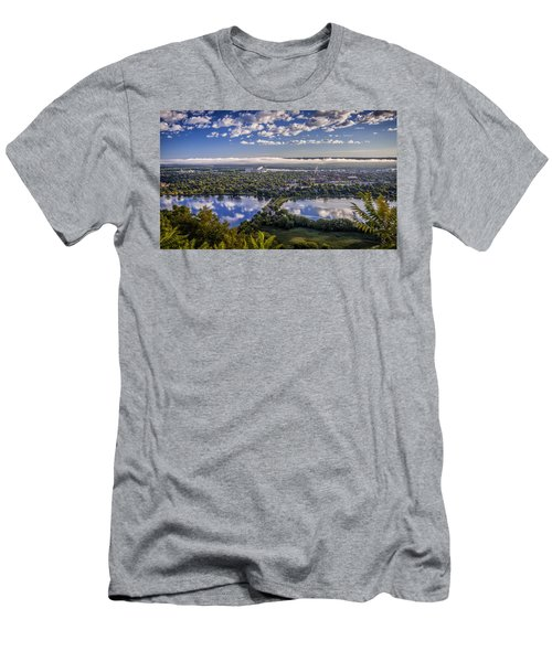 River Fog At Winona Men's T-Shirt (Athletic Fit)