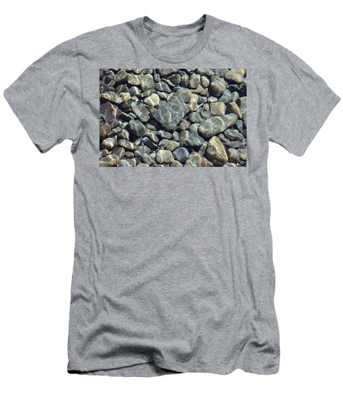Men's T-Shirt (Slim Fit) featuring the photograph River Rocks One by Chris Thomas