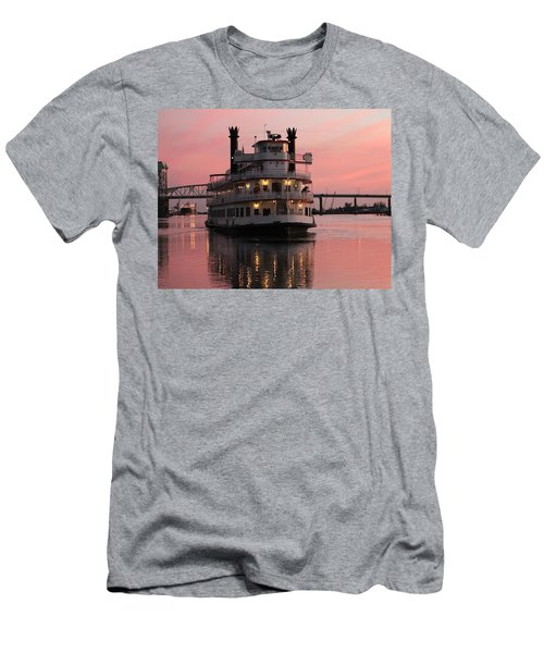 Riverboat At Sunset Men's T-Shirt (Athletic Fit)