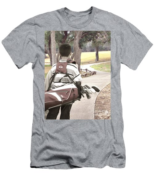 Men's T-Shirt (Slim Fit) featuring the photograph Road To Success - Inspirational Art by Ella Kaye Dickey