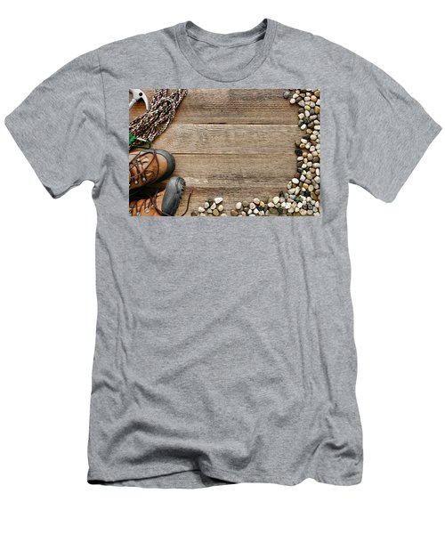 Rock Climbing Background Men's T-Shirt (Athletic Fit)