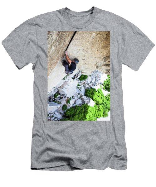Rock Climbing Men's T-Shirt (Athletic Fit)
