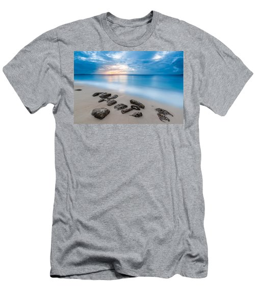 Men's T-Shirt (Slim Fit) featuring the photograph Rocks By The Sea by Mihai Andritoiu