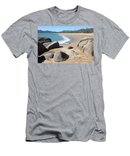 Rocks On The Beach Men's T-Shirt (Athletic Fit)