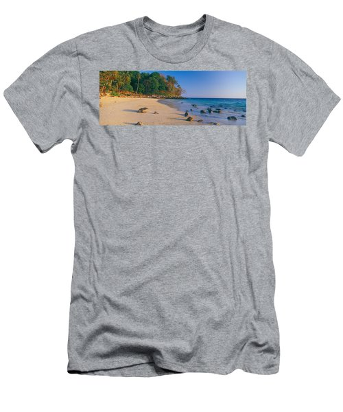 Rocks On The Beach, Phi Phi Islands Men's T-Shirt (Athletic Fit)